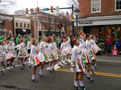 Talented young dancers performing at the St Patrick's Day parade, Alexandria, VA