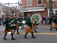 Irish drummers at the St Patrick's Day parade; Alexandria, VA