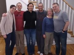 Jenn, Josh, Becky, Robby, Lisa and BJ after a great meal at Lisa's and BJ's house; Arlington, VA