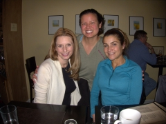 Rachel, Becky and Laura linking up after not seeing each other since their days in Germany; Alexandria, VA