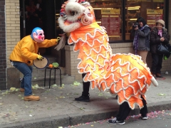 Chinatown treet performance for Chinese New Year; Boston, MA