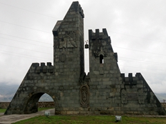 Roadside monument to Goris