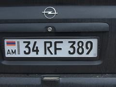 Armenian license plate