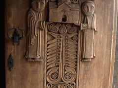Wooden door to Hayravank Monastery