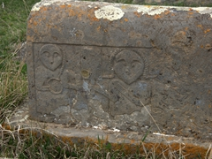 Interesting tombstone carving; Noratus