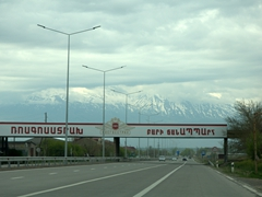 Highway leading out of Yerevan