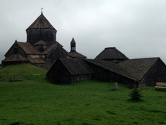 Grassy knoll enveloping Haghpat Monastery