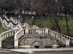 Ornate staircase; Dilijan