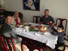 Breakfast at Gagik's house in Abovyan