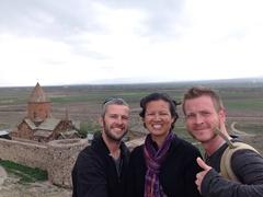 The 3 amigos at Khor Virap
