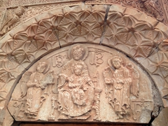 Entrance carving at Noravank Monastery