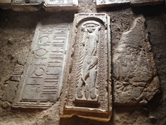 Half lion/half human tombstone; Noravank