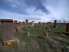 The magnificent Noratus with carved tombstones and khachkars