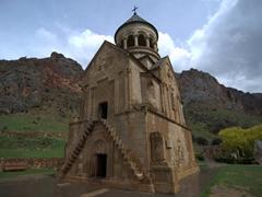 Double storied 14th century Surp Astvatsatsin Church; Noravank