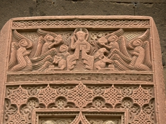 Detailed khachkar at Holy Echmiadzin