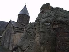 View of the beautiful Geghard Monastery